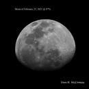 Moon of 2/23/2021 @ 87%,                                Van H. McComas