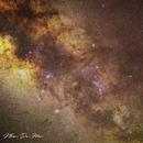 Jupiter crossing Milky Way,                                nhangadumuc