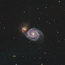 M51 - The whirlpool galaxy,                                Lovag Tamás