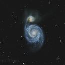 M51 The Whirlpool Galaxy,                                Komet