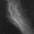 California Nebula - NGC1499 - Halpha - 2 pane mosaic,                                Arno Rottal