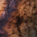 Pipe Nebula with Lagoon and Trifid,                                Christian van den Berge