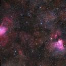M16 & M17, Eagle and Swan Nebula,                                Maurice Toet