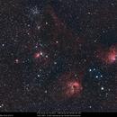 IC 410, IC 405, IC 417, NGC 1893, NGC 1931, M36, M38,                                Gérard Nonnez