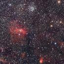 NGC 7635 (Bubble Nebula) and M52,                                Luis Martinez