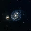 M51: The Whirlpool Galaxy,                                orangemaze