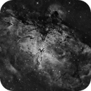 Messier 16 - The Eagle and the Pillars of Creation (b/w),                                Oliver Czernetz