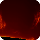 Solar Prominences Animation over three hour period March 20, 2021,                                Eric Coles (coles44)