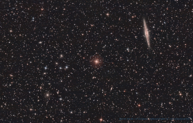 NGC 891 Vs. Abell 347 galaxy cluster [Drizzled x2],                    Vincent Bchm