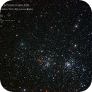 Comet PanSTARRS and the Double Cluster - 24 Jan 2020,                                MJF_Memorial_Observatory