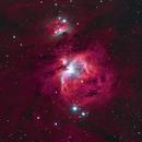 M42, Running Man and nebulosity,                                Doug Lalla