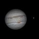Jupiter and Io on July 15, 2020,                                JDJ