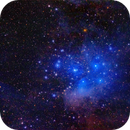 The Pleiades Star Cluster, M45 plus Dust,                                Roger Clark