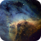 Pelican Nebula (IC50701) close up in HST + Hα as luminance,                                Jose Carballada