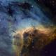 Pelican Nebula (IC50701) close up in HST + Hα as luminance,                    Jose Carballada