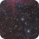 the spider and the fly  , ic 417/ ngc 1931  (  3 panels mosaic ),                                noodle
