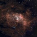 """Bubble Nebula, in """"natural"""" narrowband,                                Frank Kane"""