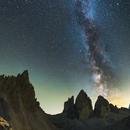 Milkyway Panorama @ Tre Crimes-Dolomites,                                Mario Gesierich
