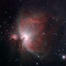 Orion Nebula (M42), Mairan's Nebula (M43), Running Man Nebula (NGC 1973, -75, -77) and NGC 1980,                                Antonis Karousis