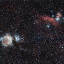M42 Orion horsehead flame,                                Chris Bynum