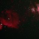 Flame Nebula and Horsehead Nebula,                                Clemley