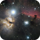 Horsehead Nebula and Flame Nebula,                                José Miranda
