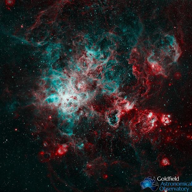 NGC 2070 HOO,                                GoldfieldAstro