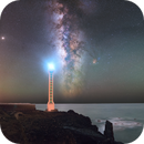 La Bombilla under the MilkyWay (La Palma, Canary Islands),                                Maxime Tessier