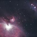 M42 Orion's Nebula and Running Man Nebula,                                Tom in NS