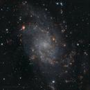 Map of the nebulae of Triangulum Galaxy,                                Samuel