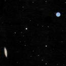 M 97 la nébuleuse du Hibou et M108 la galaxie de la Planche de Surf,                                Roger Bertuli