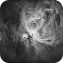 Orion Nebula (M42) and Running Man in Ha,                                Chuck's Astrophotography