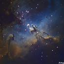 M16 - Eagle Nebula - Two scopes stacking,                                Rodrigo Andolfato