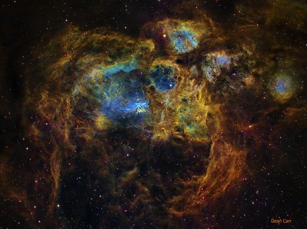 NGC 6357 (Lobster Nebula),                                Dean Carr