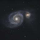 M51 and NGC 5195,                                Bob Stevenson