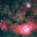 Trifid & Lagoon nebula,                                MrPhoton
