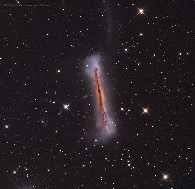 NGC 3628 First light AG Optical Systems Observatory,                                Ola Skarpen SkyEyE