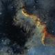 Ngc 7000 - North America Nebula - HSO  (Synthetic Sii),                                elvethar