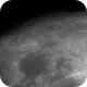 Moon shot with guide scope and camera,                                Bret Waddington
