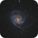 M101 as seen from the city of Sofia but on an equatorial mount,                                Sektor