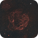 Simeis 147  and SH2-242 @ H-Alpha and RGB Stars,                                Wolfgang Zimmermann