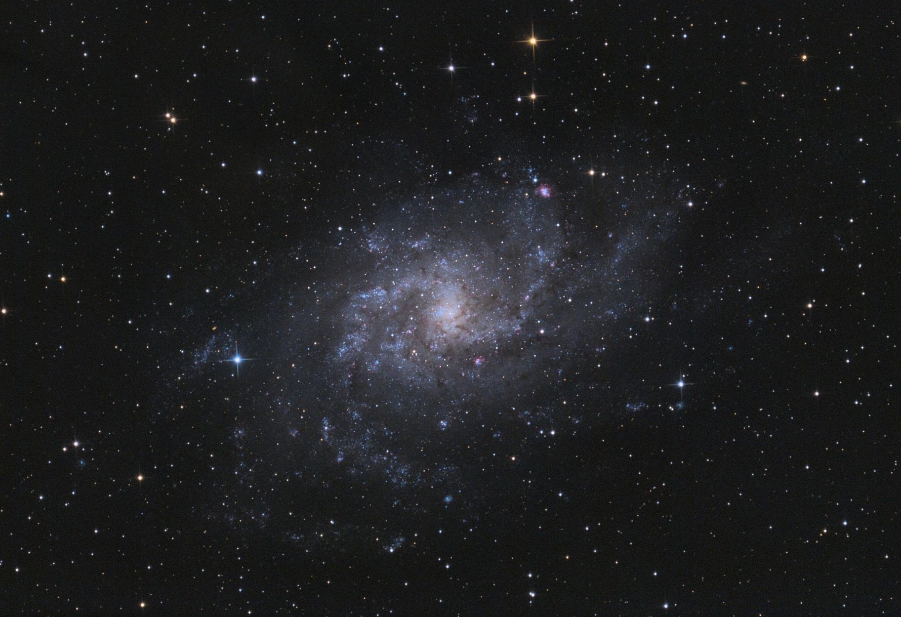 M33 Triangulum Galaxy @ Full Moon,                                Gebhard Maurer