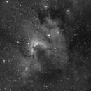 Cave Nebula: Sh2-155 in Hydrogen Alpha light,                                Jeff Ball