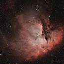 Pacman Nebula - Tricolour NB,                                Steve Milne
