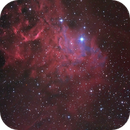 The flaming star nebula - IC405 test Moravian 8300 Ha,                                Thomas Richter