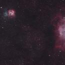 Lagoon(NGC6523) & Trifid Nebula(NGC6514),                                Bradoir