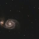 M51 from Light Polluted LA,                                Mirko M