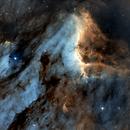 Pelikan Nebula in SHO,                                Kristof Dierick