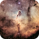IC 1396 (Elephant Trunk) narrowband - crop,                                HaSeSky