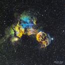 IC 443 - La méduse en SHO,                                Séb GOZE